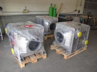 3 pcs. FERCHER FW-600M-H-A exhaustgas heatexchangers, packaged for delivery
