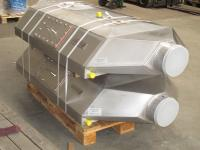2 pcs. AWT-928 wastewater heatexchangers packaged on a EURO-Palette
