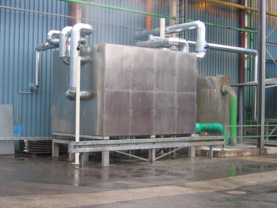 FB-60/W-S wastewater heatexchanger in the plastics industry